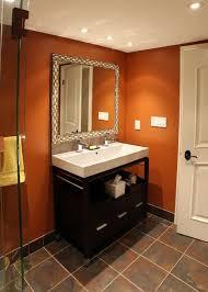 orange bathroom decorating ideas bathroom color design for burnt orange paint colors ideas