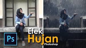 tutorial masking photoshop indonesia cara membuat efek hujan dengan photoshop tutorial tips desain