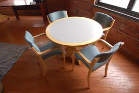round office table and chairs wood 42 round table set