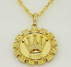 long necklace accessories images Wholesale new 2014 men hip hop rap 18k gold king crown pendant jpg