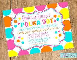 polka dot party invitations oxsvitation com
