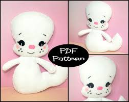 halloween ghost stencil pdf pattern ghost felt doll pattern halloween plush ghost