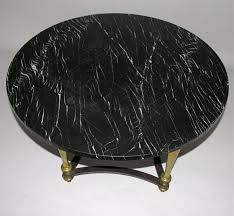 black marble coffee table round brass coffee table with black marble top at 1stdibs