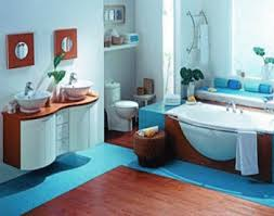 Bathroom Decorating In BlueBrown Colors Chocolate Inspiration - Blue bathroom design