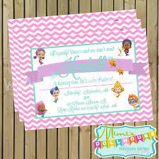 bubble guppies invitation mimi u0027s dollhouse