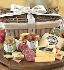 gourmet cheese gift baskets deluxe epicurean meat cheese gift basket