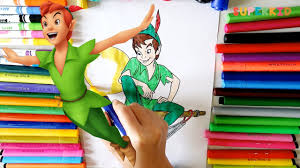 peter pan coloring pages printable learn colors cartoon