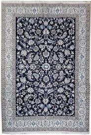 9 X12 Area Rug 9x12 Area Rugs 8x12 Wool Silk Nain Rug Iran D Blue