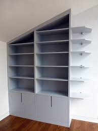 loft home office fitted bookcases bespoke furniture fitted