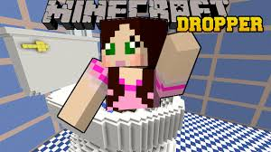 the dropper map minecraft dropping into a toilet tallcraft dropper custom
