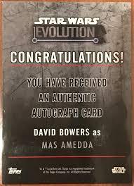 Star Wars Congratulations Card David Bowers Autograph Star Wars Amino