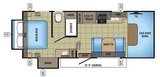 Bunkhouse 5th Wheel Floor Plans by Bunk Beds Coachmen Leprechaun 220qb Jayco 31fs Used Class C