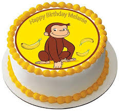 curious george cake topper curious george 3 edible birthday cake and cupcake topper edible