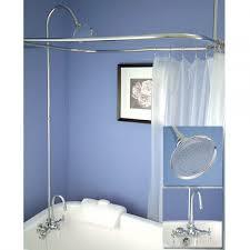 Design Clawfoot Tub Shower Curtain Rod Ideas Clawfoot Tub Shower For Pleasure Wedgelog Design