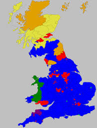 National Election Results Map by Great Britain 2009 European Election Result Maps