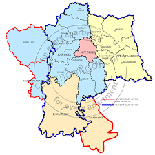 Delhi India Map by Delhi Ncr To Add Three New Districts