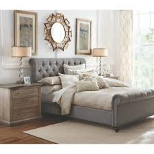 luxeo nottingham gray king sleigh bed lux k6317 gry the home depot