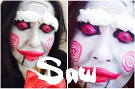 Saw Halloween Makeup by Billy Saw Puppet Make Up Tutorial Maquillaje De Halloween Youtube
