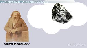 the development of the modern periodic table dmitri mendeleev u0026 the periodic table biography contribution