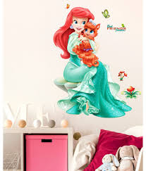 home decor upto 85 off buy decoration items lights home stickerskart pretty princes with cute little cat girl s bedroom pvc wall stickers