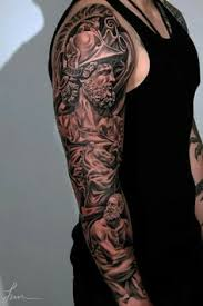 Unique Tattoo Sleeve Ideas Unique Religious Mens Full Sleeve Tattoo With Cross Design