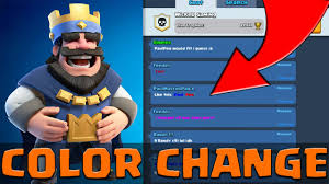how to change chat text and name color in clash royale youtube