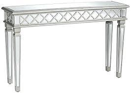 Quartz Console Table Quartz Black Mirrored Console Table Mirror Set Classical Silver