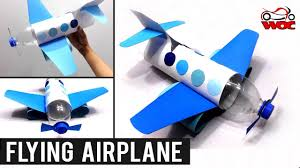 how to make a flying airplane using plastic bottle diy plastic