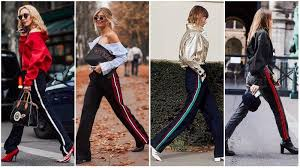 which side does st go on street style trendy stripe pants from spring summer 2018 fashion