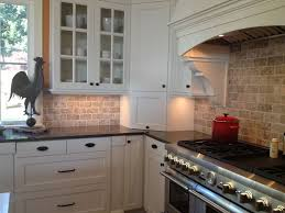 backsplash for kitchen with white cabinet picture of kitchen travertine backsplash with white cabinets and