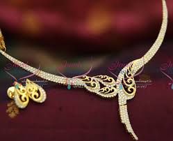 elegant gold necklace designs images Nl3535 exclusive diamond design stylish elegant gold plated ad JPG