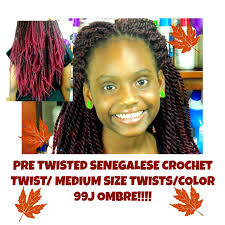 how to pretwist hair tutorial pre twisted senegalese crochet twists fall color 99j