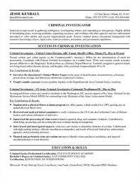 police detective resume supervisory criminal investigator cover letter
