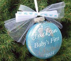 baby s personalized custom ornament