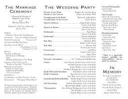 exles of wedding program wording wedding reception wording exles finding wedding ideas