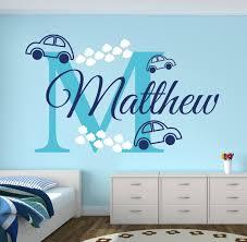 stickers voiture pour chambre garcon personnalisé nom voitures stickers muraux pour chambre à coucher du