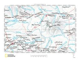 Montana County Map by Big Sandy Creek Birch Creek Drainage Divide Area Landform Origins