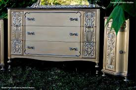 Wooden Furniture Paint Glam Metallic Paint On Furniture Modern Masters Cafe Blog