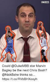 Chris Bosh Meme - fox cbb 35 could star marvin bagley be the next chris bosh thinks
