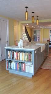 Kitchen Island With Bookshelf End Of Island Bookshelf Kitchen Traditional With Country