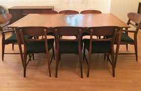 mid century modern danish style walnut dining set by lane epoch