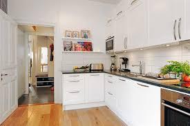 White Floor L Apartments Brilliatn Apartment Kitchen Design Ideas With L Shape