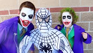 the amazing white spiderman vs joker boy u0026 joker in real life