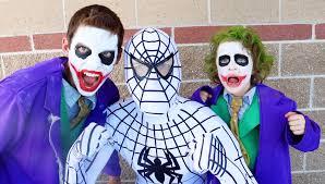 boys joker halloween costume the amazing white spiderman vs joker boy u0026 joker in real life