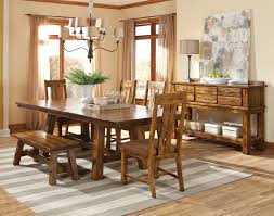 6 piece wood table chairs and bench set by intercon wolf and 6 piece table chairs and bench set