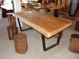 Wood Dining Table Design Furniture Fabulous Cool Wood Dining Tables Slab Table Design