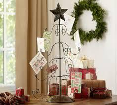 christmas card holder tree card holder pottery barn