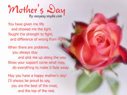 to the best mom happy mother s day card birthday short happy mothers day poems from daughter son that will make