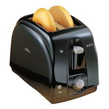 Two Slice Toaster Reviews Sunbeam 2 Slice Black Toaster