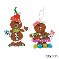 foam gingerbread ornament craft kit makes 48